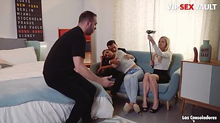 Haley Hill And Andy Stone In Blonde Serbian Teen Fucked Hard By Horny Swinger Couple