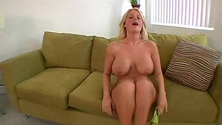 Hot big titty slut gets her cameltoe fucked