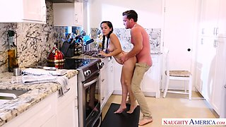 Charming pigtailed stepsister Annika Eve gets intimate with her stepbrother