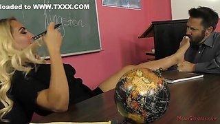 Teacher Makes Her Students Dad Bow Down And Serve Her - Kylie Kingston