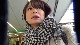 Picking up a Japanese girl in public and fucking her