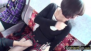 Chisa Miyamae Aika Saeki Blowjob roadtrip