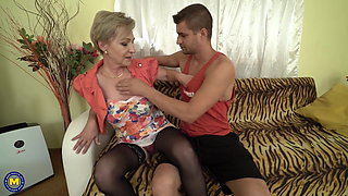 Mom son having amazing taboo sex at home