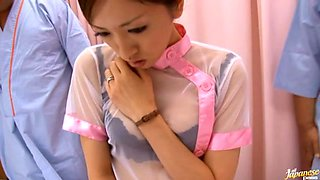 Nurse Yuri Kasiwa Fucked By Three Hospital Patients