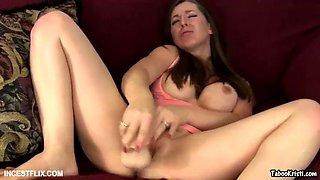 taboo milf kristi - masturbate for her brother