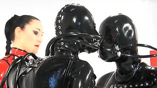 Fabulous amateur Group Sex, Latex adult clip