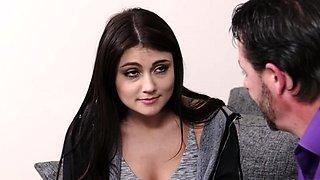 Shameless teen maid Cara Stone blows well
