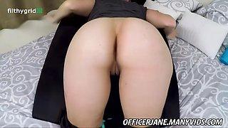 Officer jane sweaty anal play