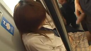 Horny Japanese whore Rina Himekawa, Akane Mochida in Fabulous Teens, Bus JAV movie