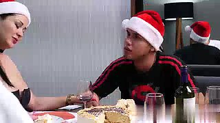 Sexmex pamela rios&#39s christmas threesome with son &amp his best friend full video