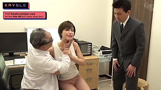 Hot japanese housewife fucking old doctor during checkup