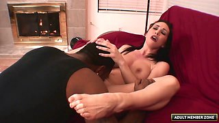 Her pussy is absolutely tight and his cock is absolutely big