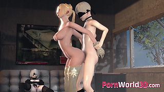 Games Heroes with Huge Round Titty 3D Animation Compilation
