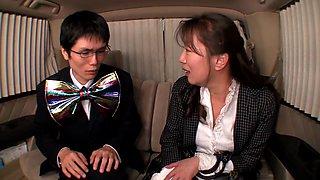 Rino Aoi, Satomi Kirihara, Arisa Saeki, Ruru Sakurai in University Students Interview Pickup part 4.5