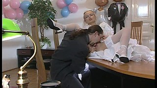 Bride In Glasses Dora Venter Gets Anal And Facial As a Wedding Gift