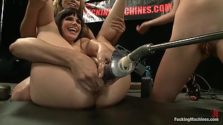 Incredible fisting, fetish sex clip with fabulous pornstars Bobbi Starr, Lorelei Lee and Annie Cruz from Fuckingmachines