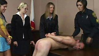 Cfnm femdom bitches facesitting humiliated victim