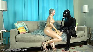 Kinkyrubberworld - Milked By The Golden Rubberdoll