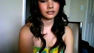 Stunning MILFie black head with big titties tickles her clit on webcam