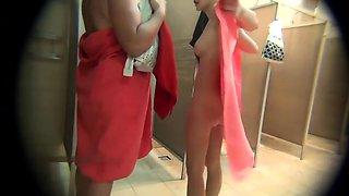 Kinky voyeur captures curvy amateur ladies in the shower