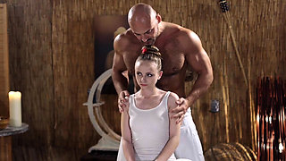 Massage Rooms Standing 69 with petite naughty Czech