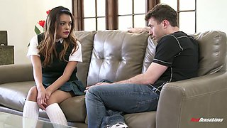 Salacious babe Josie Jagger enjoys having sex with a new college fellow