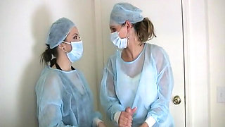 Two naughty nurses in a threesome