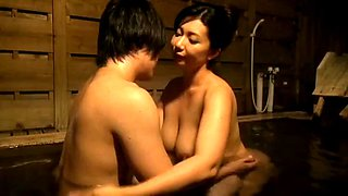 Mom &amp son in Hotspring Vacation