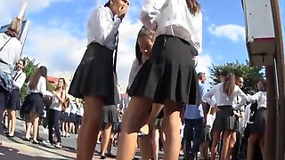 Voyeur's paradise with schoolgirls