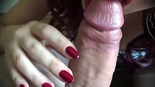 Lipstick And Cum - Step Brother Gives A Mouthful Of Sperm To His Sexy Lover