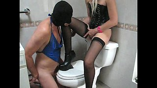 sadobitch - sissyhubby bathroom session p3