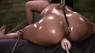 FetishNetwork Valentina in rope bondage