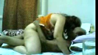 Curvy BBW Arabian wife rides my big cock on top before we sleep