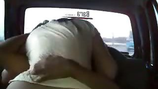 Naughty girlfriend hardest fucking in the car
