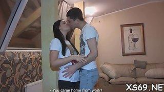 Hot erotic hugs and kisses