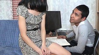 Breathtaking young russian brunette Misha gets screwed
