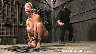 Two lustful sex-slaves are ready for punishment master prepared for their slits
