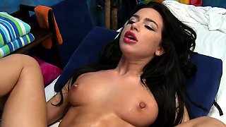 Aroused young Adrianna Lynn in enjoyable sex