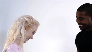 Icy blonde screams on BBC while getting pounded