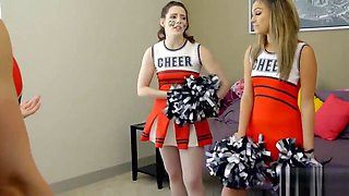 Cheerleader stepsister fucked during cheer practise