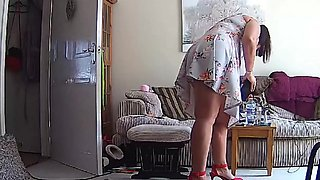 Housewife Milf Mature Mom Mum Upskirt - Hacked IP Camera