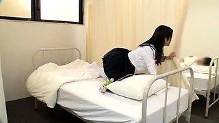Sexy Milf inside nurse uniform stretching hairy pussy