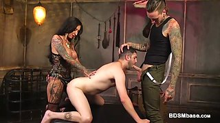 Busty Milf in Rough Bdsm Bisexual Scene