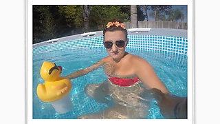 Flirting in the pool for my boyfriends