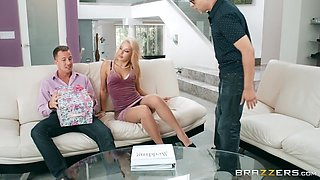 blonde wife gets a new cock