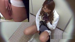 Pissing Asian Teen Masturbation Toilet Spycam
