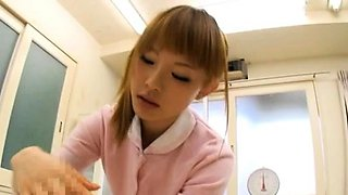 Slim asia nurse knows proper skills with a huge wang