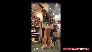 Asian MILF Upskirt No panties