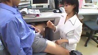 Fabulous Japanese chick in Crazy Secretary, Handjobs JAV movie