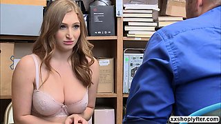 Shoplifter Teen Skylar Snow gets sod0mizes in the office